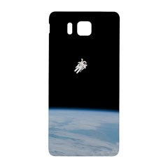 Astronaut Floating Above The Blue Planet Samsung Galaxy Alpha Hardshell Back Case