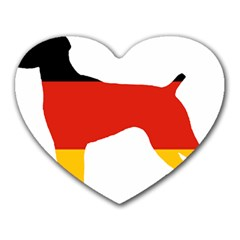 German Shorthaired Pointer Flag Silo Germany Flag Heart Mousepads