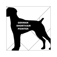 German Shorthaired Pointer Name Silo Acrylic Tangram Puzzle (6  x 6 )
