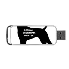 German Shorthaired Pointer Name Silo Portable USB Flash (One Side)