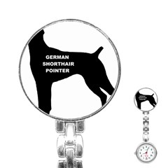 German Shorthaired Pointer Name Silo Stainless Steel Nurses Watch