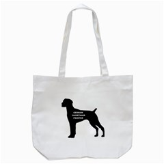 German Shorthaired Pointer Name Silo Tote Bag (White)