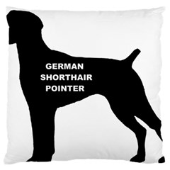 German Shorthaired Pointer Name Silo Large Flano Cushion Case (Two Sides)