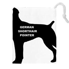 German Shorthaired Pointer Name Silo Drawstring Pouches (XXL)
