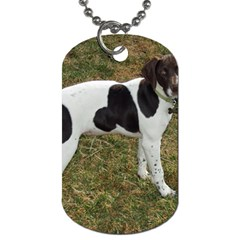 German Short Haired Pointer Puppy Dog Tag (One Side)