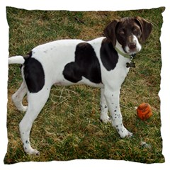 German Short Haired Pointer Puppy Large Cushion Case (One Side)