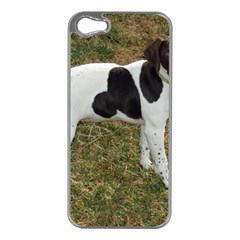 German Short Haired Pointer Puppy Apple iPhone 5 Case (Silver)