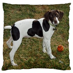 German Short Haired Pointer Puppy Large Flano Cushion Case (One Side)