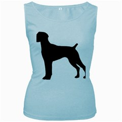 German Shorthaired Pointer Silo Women s Baby Blue Tank Top