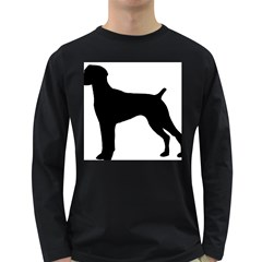 German Shorthaired Pointer Silo Long Sleeve Dark T-Shirts