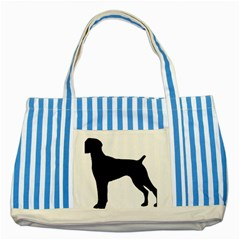 German Shorthaired Pointer Silo Striped Blue Tote Bag