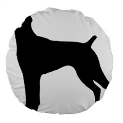 German Shorthaired Pointer Silo Large 18  Premium Flano Round Cushions