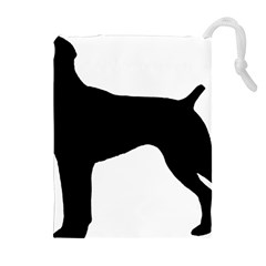 German Shorthaired Pointer Silo Drawstring Pouches (Extra Large)