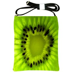 Kiwi Fruit Slices Cut Macro Green Shoulder Sling Bags