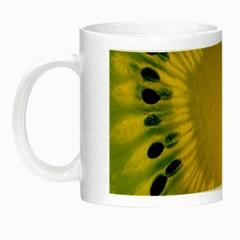 Kiwi Fruit Slices Cut Macro Green Yellow Night Luminous Mugs