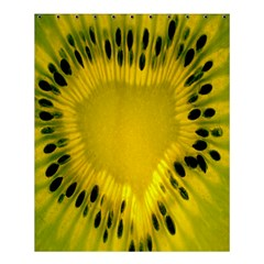 Kiwi Fruit Slices Cut Macro Green Yellow Shower Curtain 60  X 72  (medium)