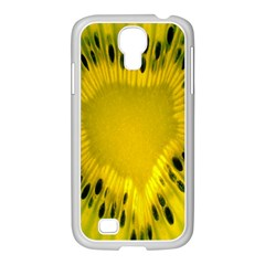 Kiwi Fruit Slices Cut Macro Green Yellow Samsung Galaxy S4 I9500/ I9505 Case (white)