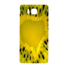 Kiwi Fruit Slices Cut Macro Green Yellow Samsung Galaxy Alpha Hardshell Back Case