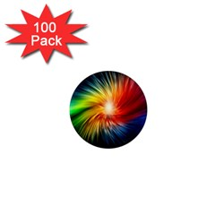 Lamp Light Galaxy Space Color 1  Mini Magnets (100 Pack)