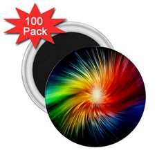 Lamp Light Galaxy Space Color 2 25  Magnets (100 Pack)