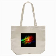 Lamp Light Galaxy Space Color Tote Bag (cream)