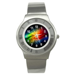 Lamp Light Galaxy Space Color Stainless Steel Watch