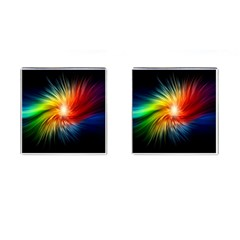 Lamp Light Galaxy Space Color Cufflinks (square)