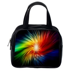 Lamp Light Galaxy Space Color Classic Handbags (one Side)