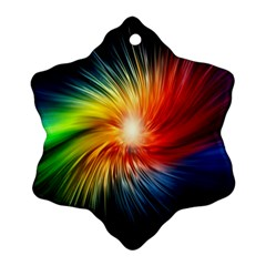 Lamp Light Galaxy Space Color Ornament (snowflake)