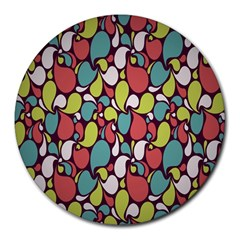 Leaf Camo Color Flower Round Mousepads