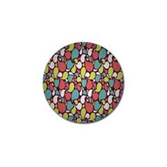 Leaf Camo Color Flower Golf Ball Marker (4 Pack)