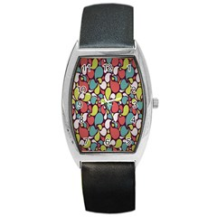 Leaf Camo Color Flower Barrel Style Metal Watch