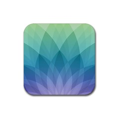 Lotus Events Green Blue Purple Rubber Square Coaster (4 Pack)