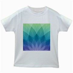 Lotus Events Green Blue Purple Kids White T Shirts