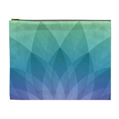Lotus Events Green Blue Purple Cosmetic Bag (xl)