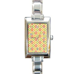 Lime Orange Fruit Slice Color Rectangle Italian Charm Watch
