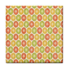 Lime Orange Fruit Slice Color Tile Coasters
