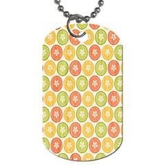 Lime Orange Fruit Slice Color Dog Tag (Two Sides)