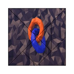 Low Poly Figures Circles Surface Orange Blue Grey Triangle Acrylic Tangram Puzzle (6  X 6 )
