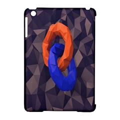 Low Poly Figures Circles Surface Orange Blue Grey Triangle Apple Ipad Mini Hardshell Case (compatible With Smart Cover)