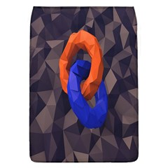 Low Poly Figures Circles Surface Orange Blue Grey Triangle Flap Covers (l)