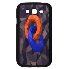Low Poly Figures Circles Surface Orange Blue Grey Triangle Samsung Galaxy Grand Duos I9082 Case (black)