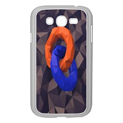 Low Poly Figures Circles Surface Orange Blue Grey Triangle Samsung Galaxy Grand Duos I9082 Case (white)
