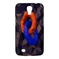 Low Poly Figures Circles Surface Orange Blue Grey Triangle Samsung Galaxy Mega 6 3  I9200 Hardshell Case