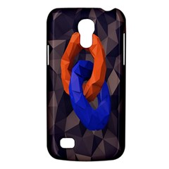 Low Poly Figures Circles Surface Orange Blue Grey Triangle Galaxy S4 Mini
