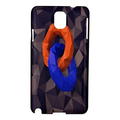 Low Poly Figures Circles Surface Orange Blue Grey Triangle Samsung Galaxy Note 3 N9005 Hardshell Case