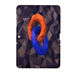 Low Poly Figures Circles Surface Orange Blue Grey Triangle Samsung Galaxy Tab 2 (10 1 ) P5100 Hardshell Case