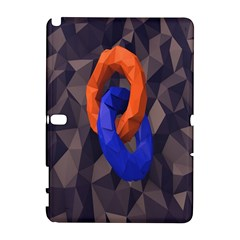 Low Poly Figures Circles Surface Orange Blue Grey Triangle Galaxy Note 1