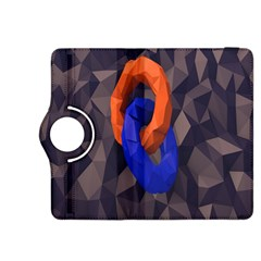 Low Poly Figures Circles Surface Orange Blue Grey Triangle Kindle Fire Hdx 8 9  Flip 360 Case
