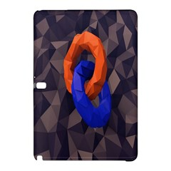 Low Poly Figures Circles Surface Orange Blue Grey Triangle Samsung Galaxy Tab Pro 10 1 Hardshell Case